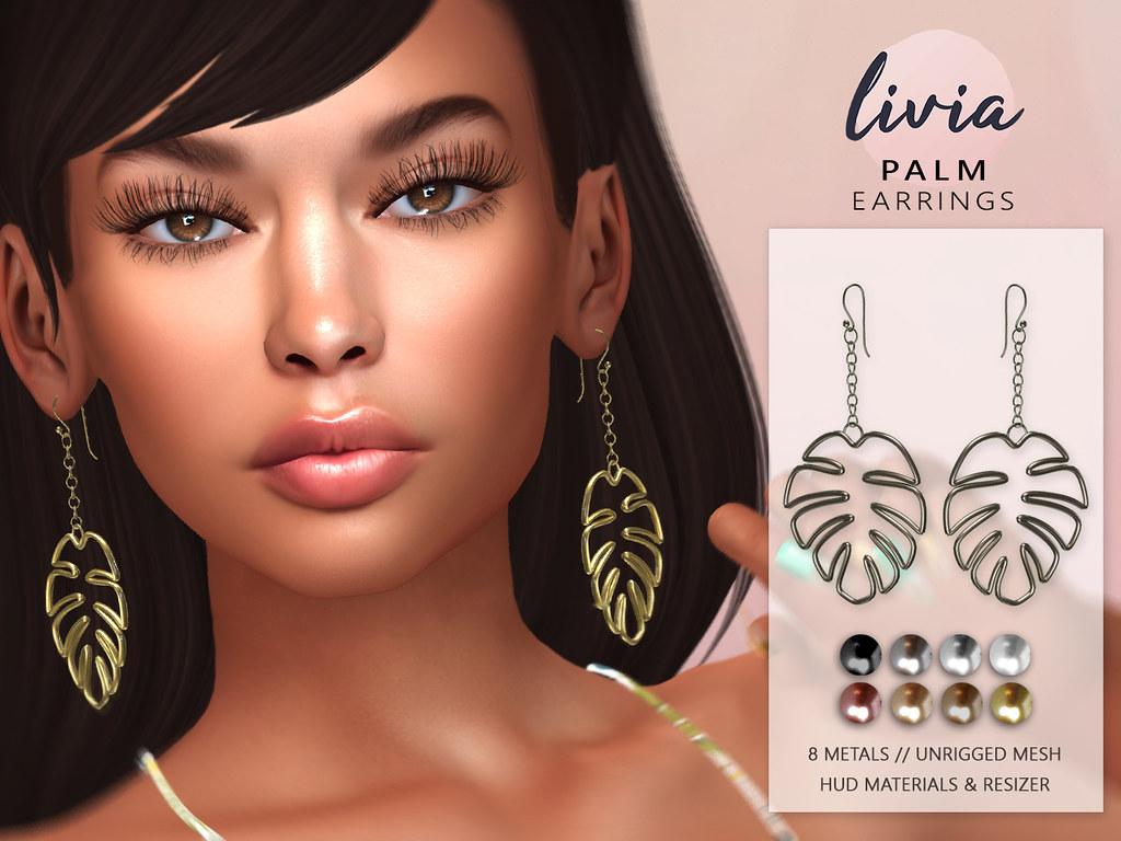 LIVIA // Palm Earrings