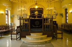 Interior of Shaare Rason Synagogue, Mumbai