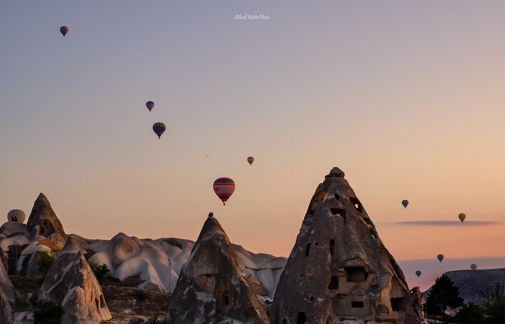 Hot Air Balloon Goreme Cappadocia on sunrise