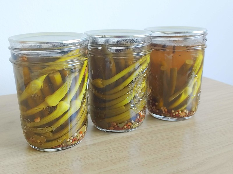 Pickled Garlic Scapes (from the garden!)