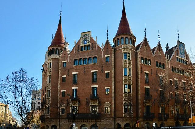 Casa Terrades/Casa de les Punxes (1905), Barcelona. Arquitecte: Puig i Cadafalch (1867-1956).