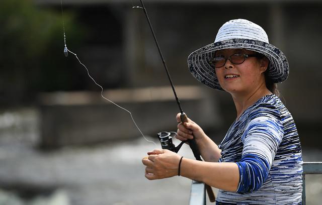 Happy Fisherwoman