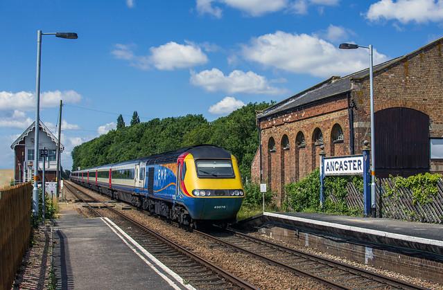 43076 tnt 43058 2S13 Nottingham to Skegness at Ancaster