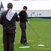 Tiger Woods on the range