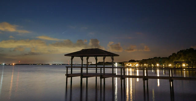 Comet NEOWISE over the Indian River Lagoon.