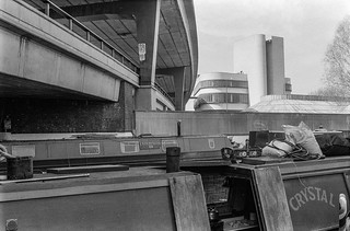 Paddington Arm, Regents Canal, Westway, Paddington, Westminster, 1987 87-4a-23-positive_2400