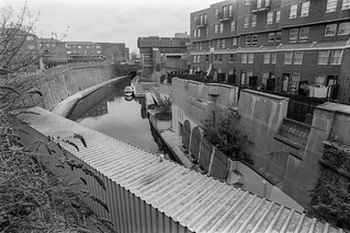 Regents Canal, Maida Hill Tunnel entrance, Lisson Grove, Westminister, 1987 87-4d-21-positive_2400