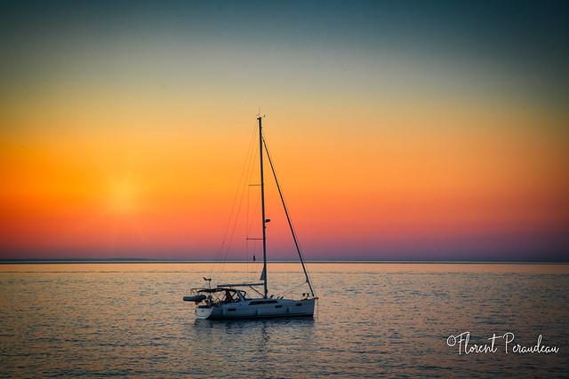 coucher de soleil à Collioure