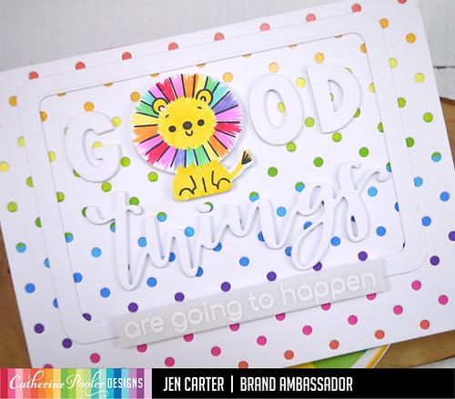 Jen Carter Rainbow Lion Good Things Polka Dot Closeup 2