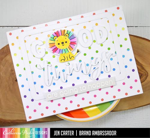 Jen Carter Rainbow Lion Good Things Polka Dot 6
