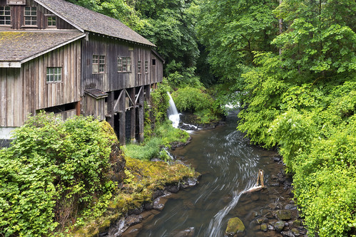 cedarcreekgristmill gristmill cedarcreek waterfallmuseum woodlands wa washington workingmill nationalregisterofhistoricplaces graingrindingmill lush green water creek stream river