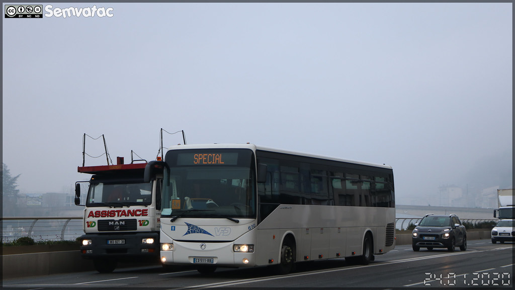 Irisbus Crossway – VFD (Voies Ferrées du Dauphiné) (CFTR, Compagnie Française des Transports Régionaux) n°610