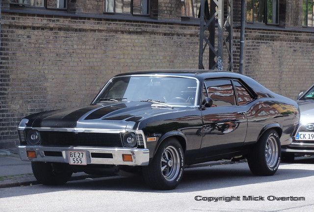 1972 Chevy Nova V8 5.3 BE27555 is a 2017 import to Denmark - it sounds as good as it looks !