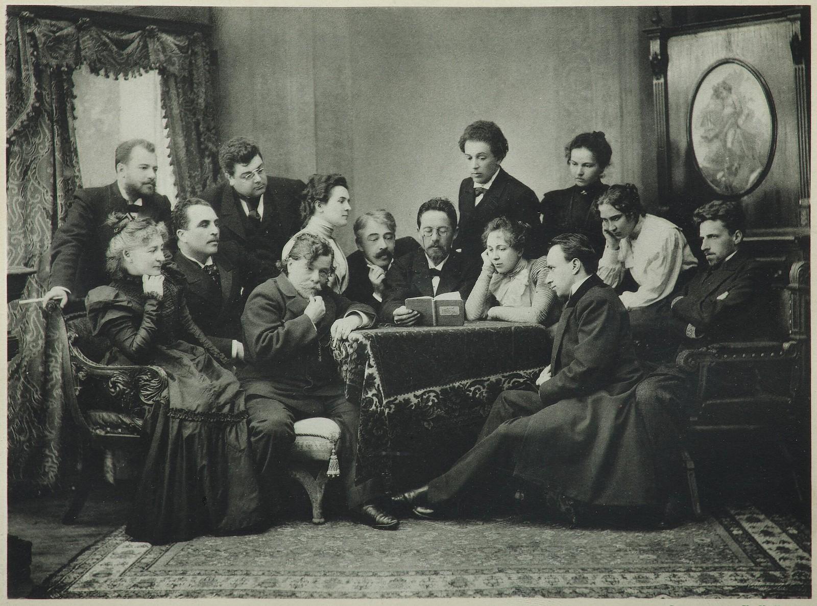 1899. А.П. Чехов читает «Чайку» труппе МХАТа