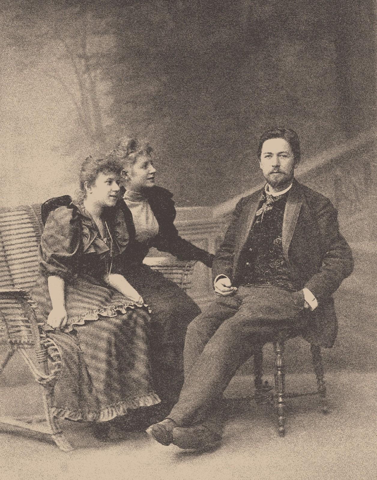 1894. А.П. Чехов, Татьяна Щепкина-Куперник и Лидия Яворская