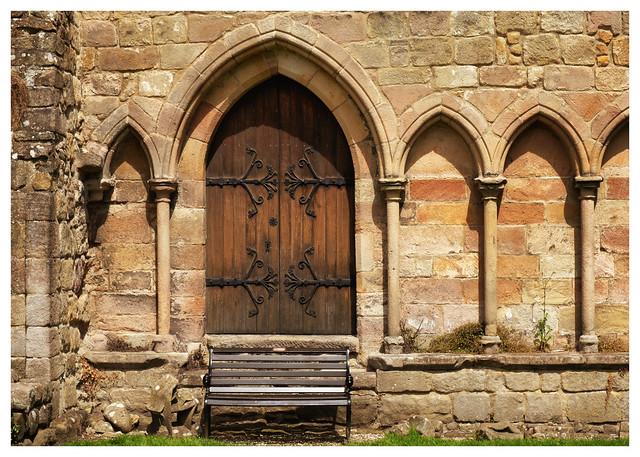Entrance door - Bolton Abbey