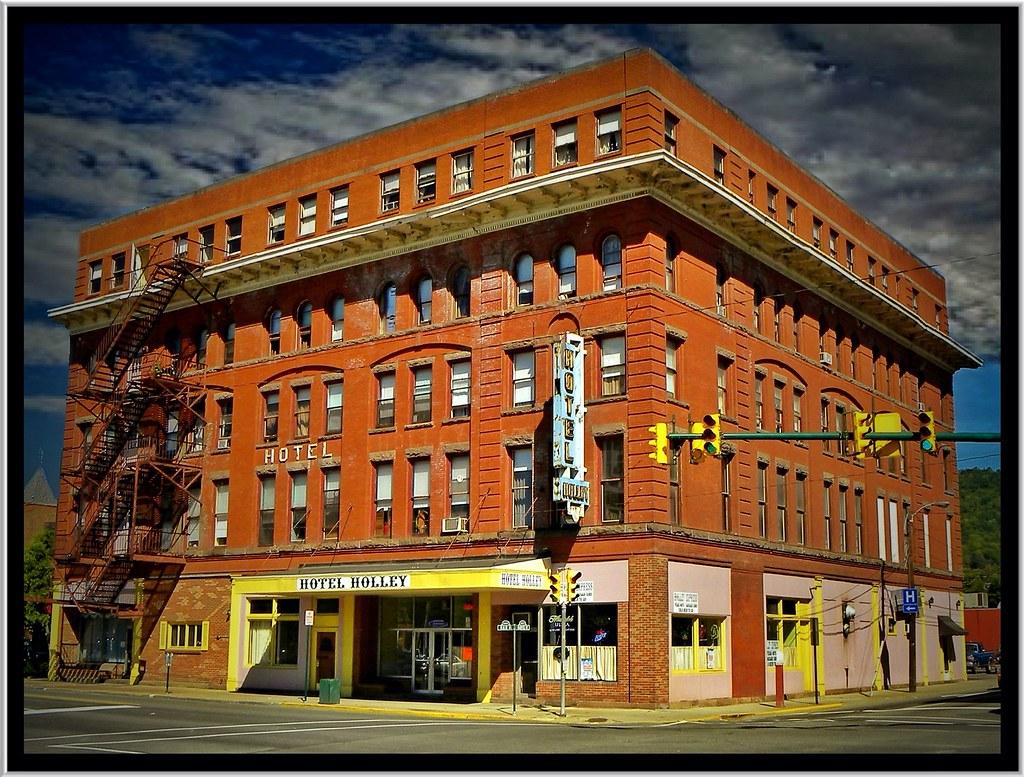 Hotel Emery ~ Bradford PA ~ Vintage Photo-  AKA Hotel Holley