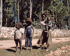 Family at Foret des Pin Haiti Jan 1988 VR200
