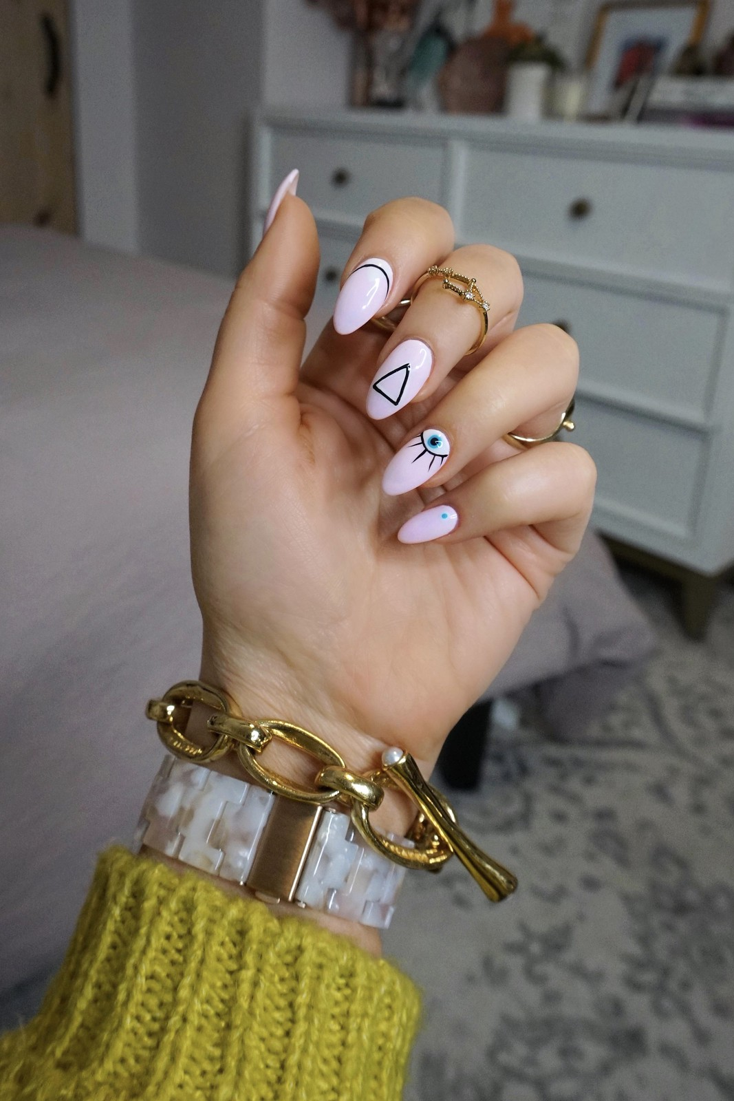 Pink Geometric Nail Art Inspiration | A Look Back at 10 Years of Blogging Living After Midnite Blogger Jackie Giardina