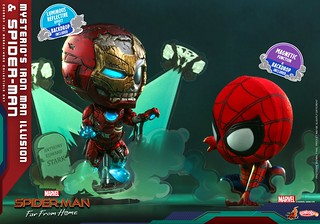 Hot Toys – COSB768 -《蜘蛛人:離家日》神秘客的鋼鐵人幻象&蜘蛛人(Mysterio's Iron Man Illusion and Spider-Man)Cosbaby (S) Bobble-Head 套組