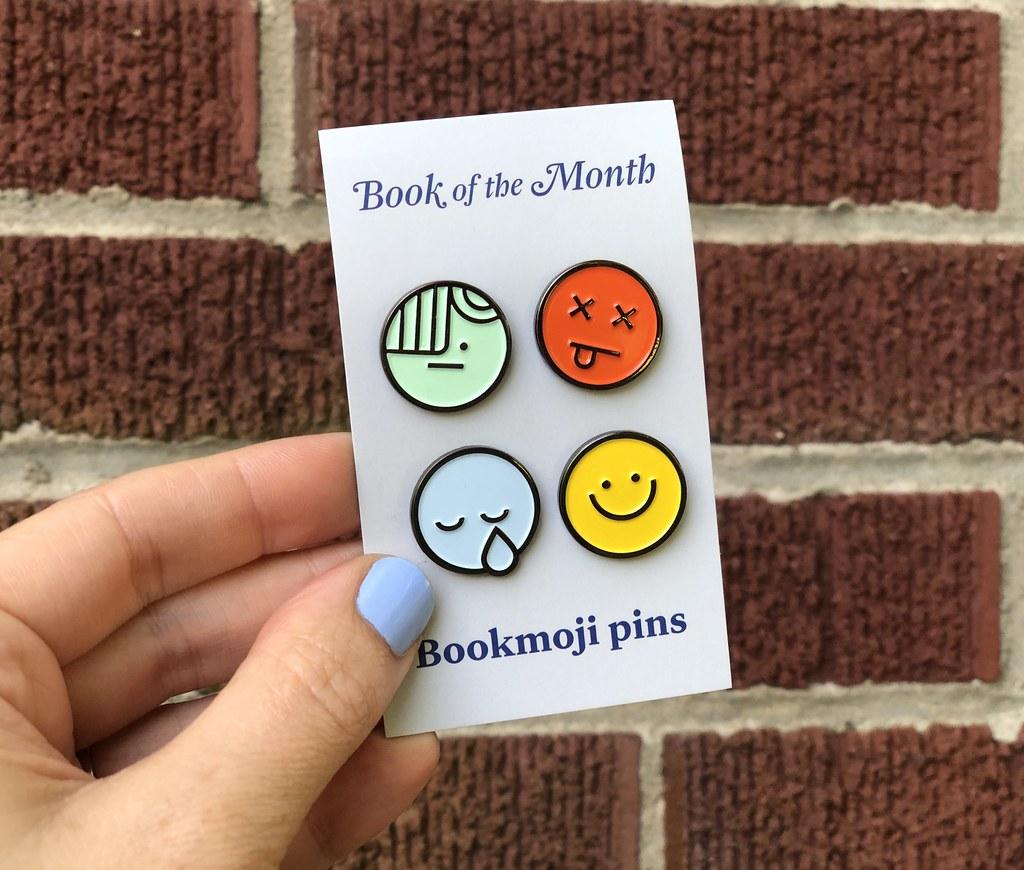 Bookmoji pins