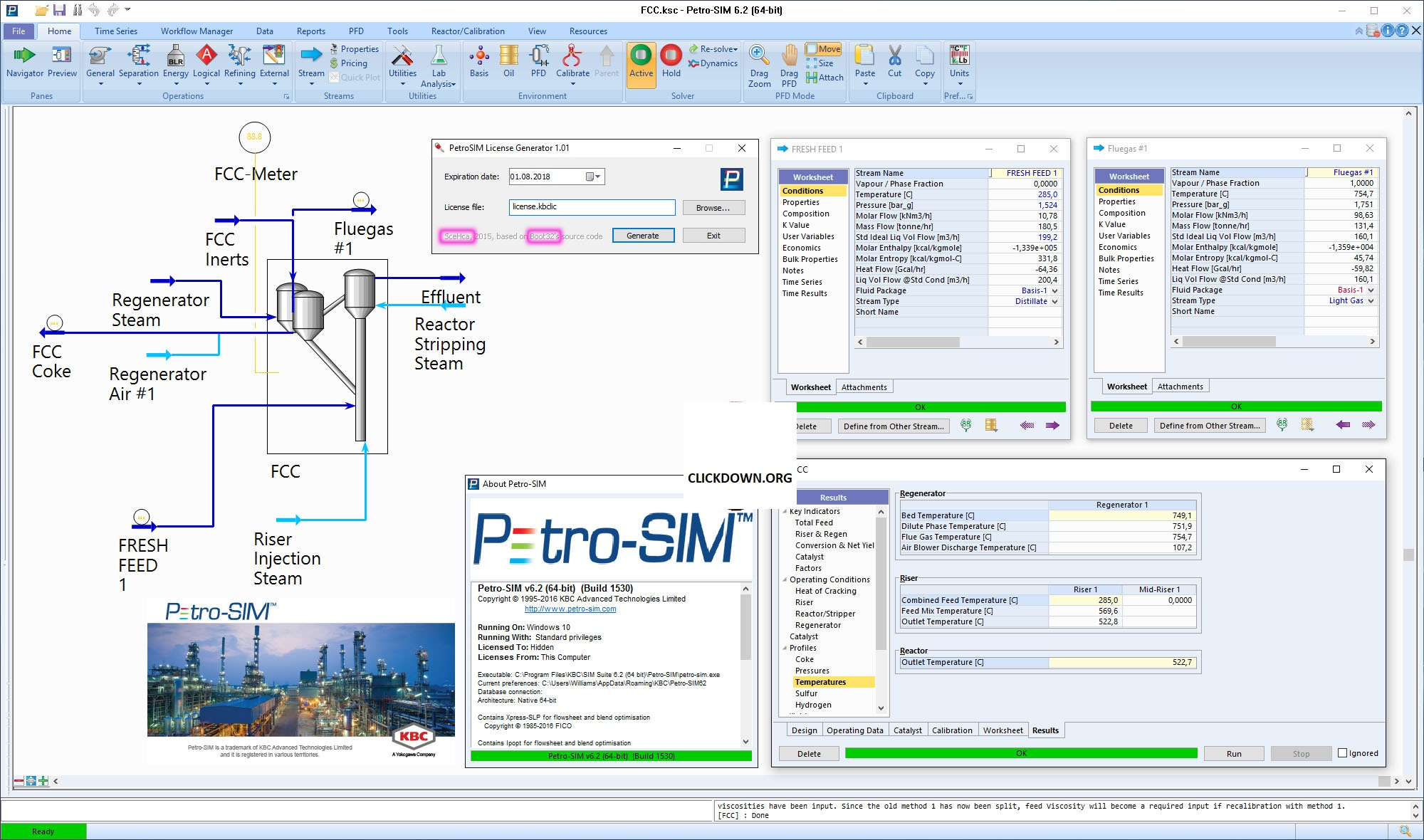 Working with KBC Petro-SIM and the SIM Reactor Suite 6.2 full license
