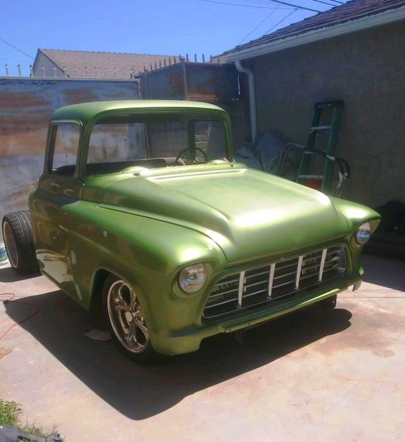 Up date pics of Myron's '55 Chevy truck