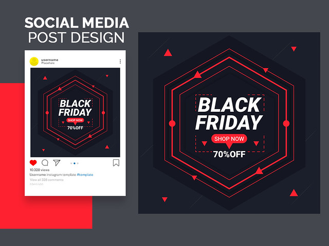 Social Media Banner.Black friday sale banner