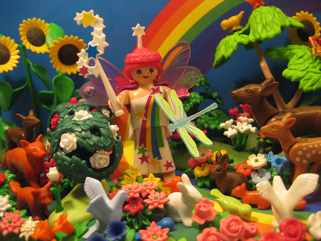 The Rainbow Faerie Spreads Colour in her Path
