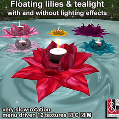 Floating lilies & tealight