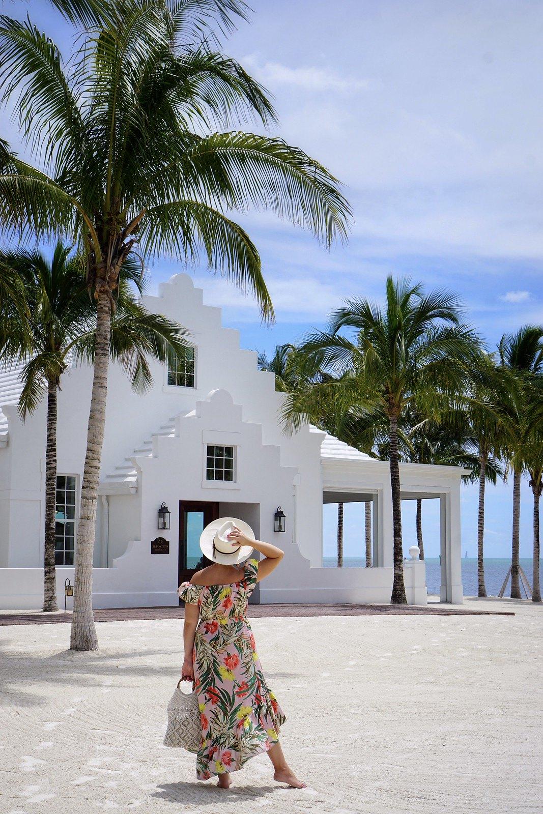 Florida Keys Travel   Islamorada Resort   Palm Print Summer Outfit