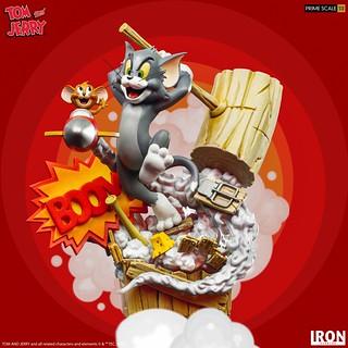 高度再現追逐時的混亂場面! Iron Studios Prime Scale 系列《湯姆貓與傑利鼠》湯姆貓與傑利鼠(Tom & Jerry)1/3 比例全身雕像
