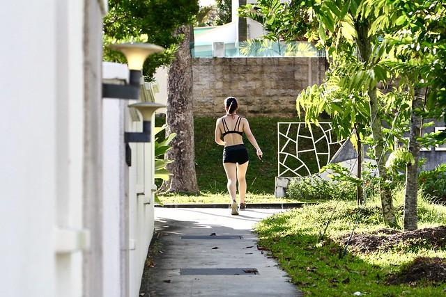 Jogger (homo sapiens), Seletar Hills Singapore, 20 July 2020.  Canon 60D/Canon EF 70-300mm f4-5.6L IS USM.