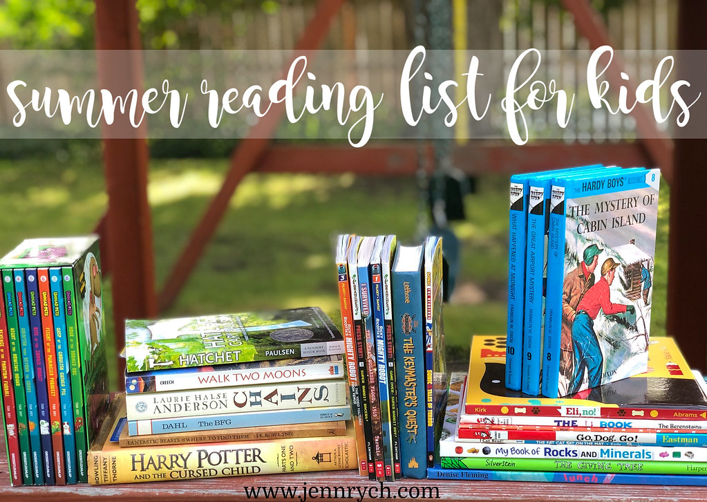 Book Recommendations for Summer Reading with Kids Ages 5-12 | www.jennrych.com