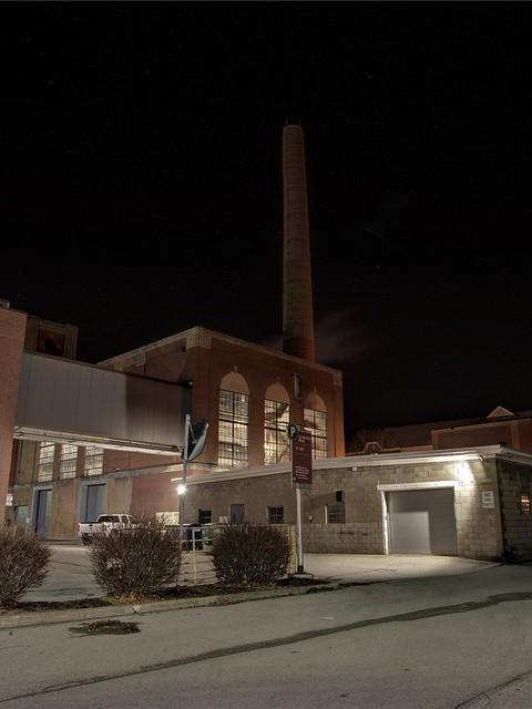 smokestack at Indiana University of Pennsylvania
