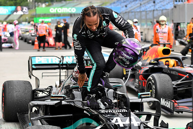 Hamilton indulges in all the luxuries and catches a Schumacher record