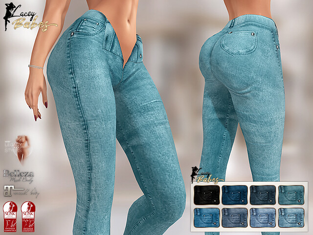 LB – Bonita Unzipped Jeans (8 colours) w/HUD