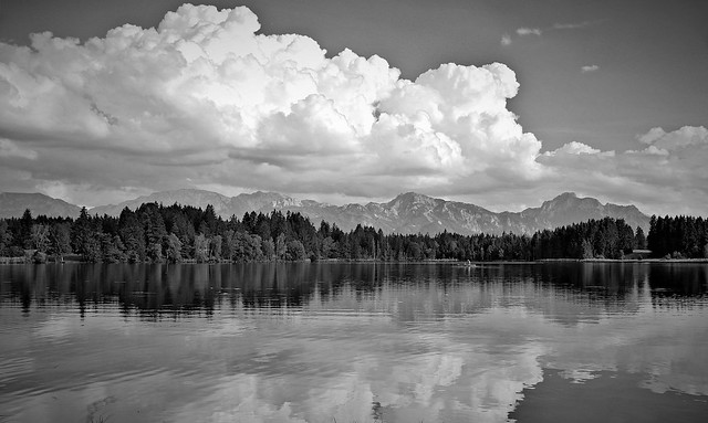 Schmuttersee, Bavaria, Germany - B/W