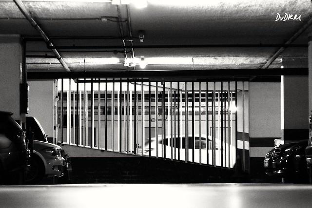 Car imprisoned underground