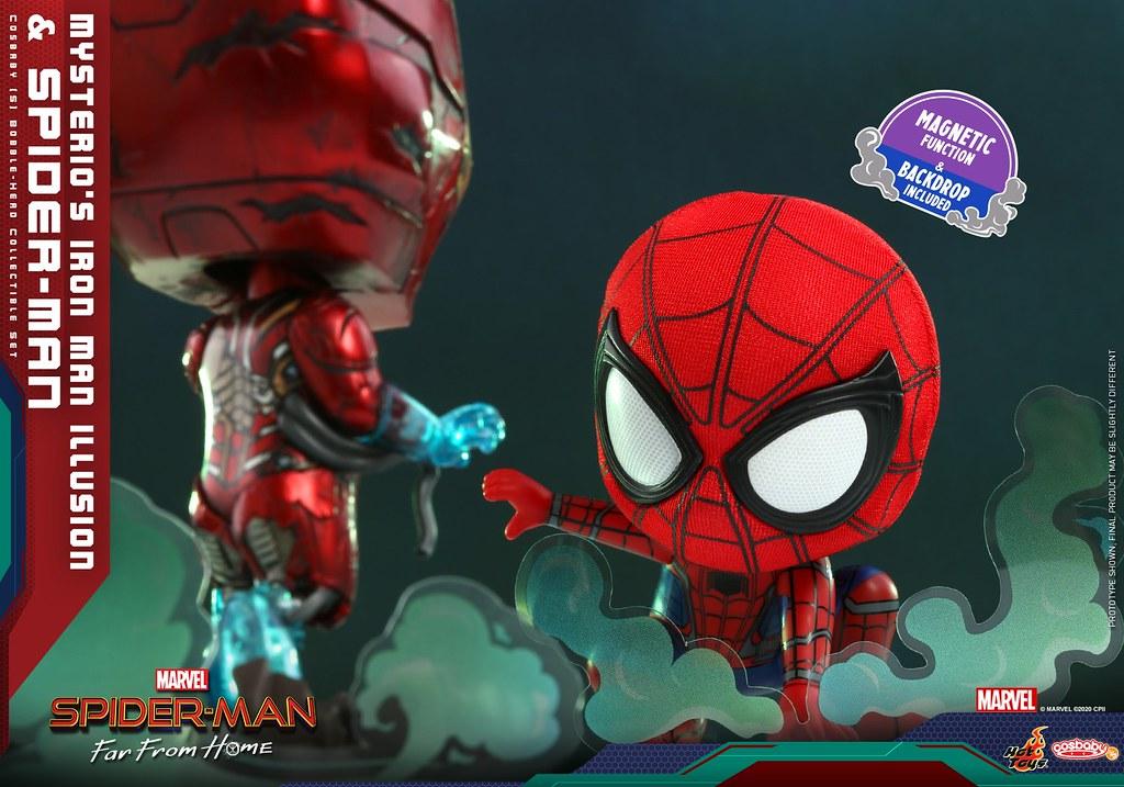 Hot Toys – COSB768 -《蜘蛛人:離家日》神秘客的鋼鐵人幻象&蜘蛛人(Mysterio's Iron Man Illusion and Spider-Man)Cosbaby (S) Bobble-Head 套組