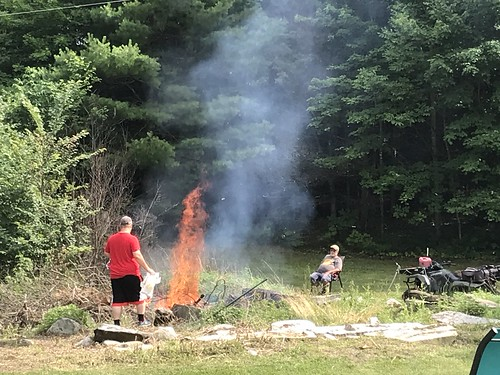 burning the pit