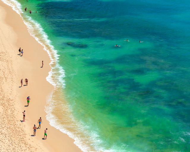 Orilla de la playa de Marinha