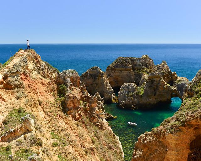 Acantilados de la Ponta da Piedade, uno de los lugares más bonitos del Algarve