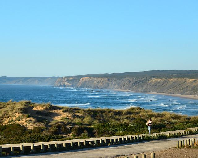 Pasarela de la playa de Carrapateira o Bordeira
