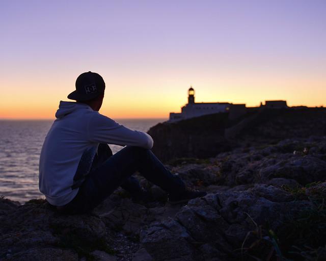 Atardecer en el Cabo de San Vicente