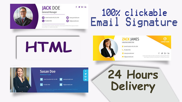 i will creat a clickable html email signature design for devise (2)
