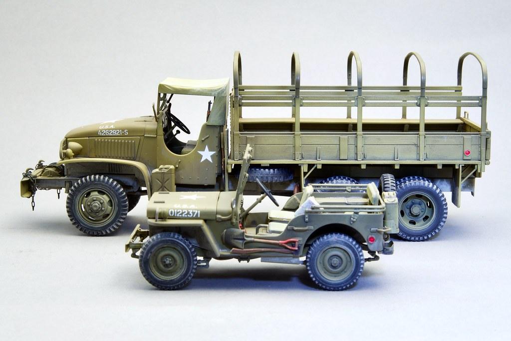 US 2.1/2 Ton 6x6 Cargo Truck. Tamiya 1/35