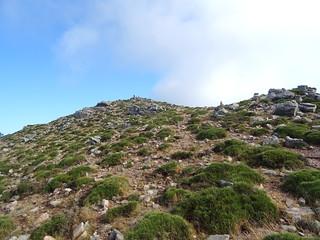 Un concurrent au sommet du Monte Calva (1381m)