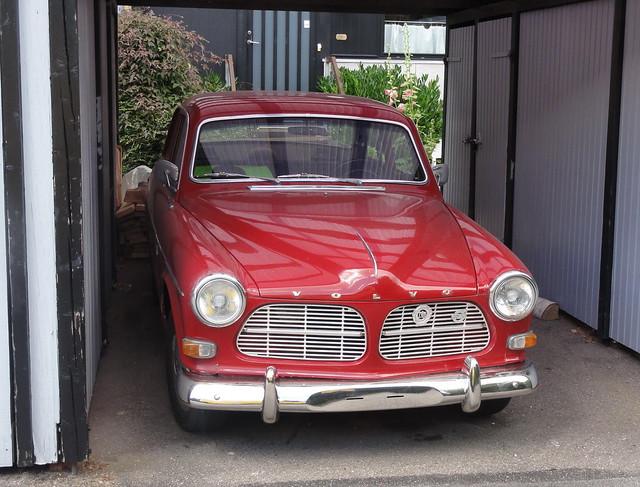 Tidy unregistered Volvo Amazon resides under a Danish carport