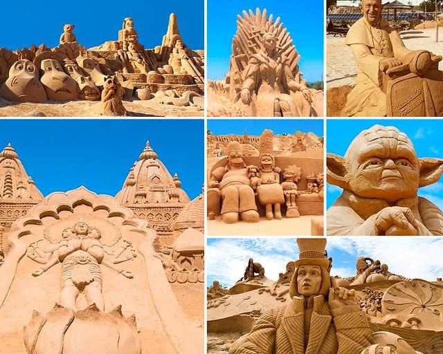 Figuras de arena en el Algarve
